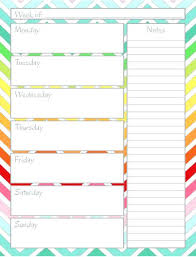 Printable Weekly Calendar Template To Free Templates 2015 Pumpedsocial