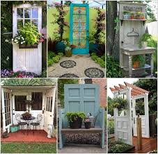 so we thought of bringing you some garden decor ideas and chose decor with old doors