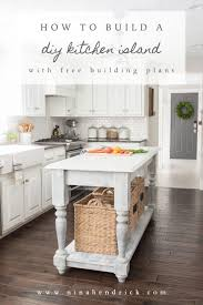 diy kitchen island. Pin It For Later | DIY Kitchen Island \u0026 Free Building Plans Diy E