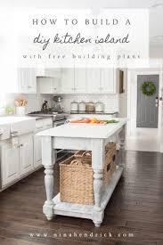 diy kitchen island. Pin It For Later | DIY Kitchen Island \u0026 Free Building Plans Diy E