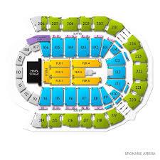 Spokane Arena 2019 Seating Chart