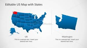 Us Map Editable In Powerpoint Presentation Template Of Us Map For Powerpoint Slidemodel