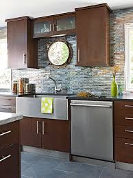Glass tiles for backsplashes are available in just about every color you can imagine. Glass Tile Backsplash Pictures Better Homes Gardens