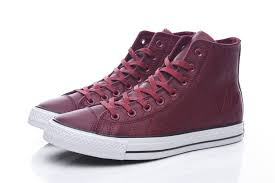 converse chuck taylor all star diamond printing wine red leather high tops shoes converse black