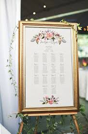 Seating Chart Wedding Sign Floral Wedding Seating Chart Printable Seating Chart