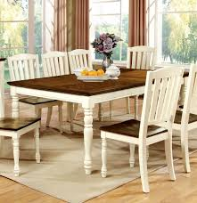 Two Tone Wood Dining Table