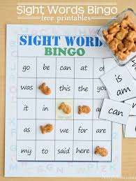 sight words bingo with free printables
