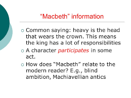 notes on ldquo macbeth rdquo essay ppt macbeth information