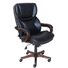 serta at home 46859 executive office chair in black with bonded leather