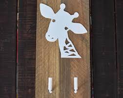 Giraffe Coat Rack Safari wall hooks Etsy 80