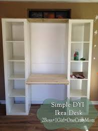 office desk with bookshelf. Build A Desk Out Of Ikea Expedite Units #DYI Project More Office With Bookshelf U
