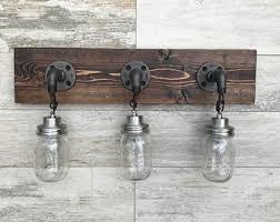 bathroom lighting fixtures rustic lighting. vanity light fixture 3 countrystyle mason jar wall pendant bathroom lighting fixtures rustic
