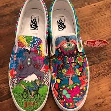 Vans Slip Ons Designs Pin By Mido Taha On Psychedelic Shoes In 2020 Vans Shoes