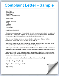 complaint letter us complaint letter samples writing professional letters
