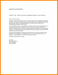 Simple Email Sample With Emailing A Cover Letter Email Job