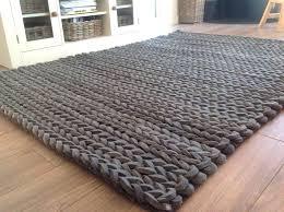 chunky knit rug chunky braided wool