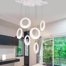 brand new high lumen led bedroom light acrylic lampshade led bulb light pendant lamp indoor lighting decoration semi flush ceiling lights