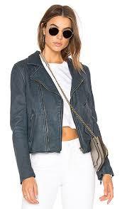stylish june denim blue vintage mc leather jacket for women