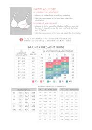 Bra Size And Cup Size Chart Intimates Size Guide Spring Maternity