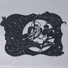 ディズニー アラジンアラジンジャスミンよこ型切り絵 555 メルカリ スマホでかんたん