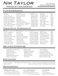 Theatre Resume Templates Classy This Is Theatre Resume Templates Film Amp Crew Example Media