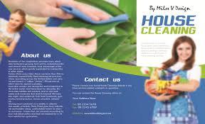 Cleaning Brochure House Cleaning Tri Fold Brochure Miles V Design Bespoke