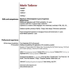 Software Developer Resume Samples Ios Developer Resume Examples Raywenderlich Com