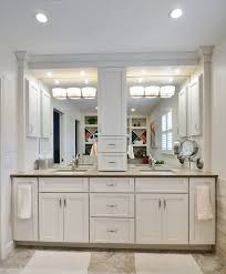 bathroom comely white bathroom decoration using recessed light in bathroom including white wood double bathroom vanity and square white double bathroom