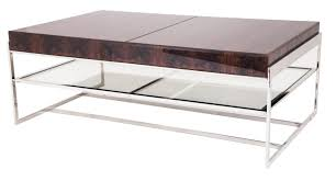 coffee tables coffee table elegance chrome design idea glass rectangle the berkeley glazed large walnut