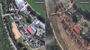 Germany floods: Before and after ...