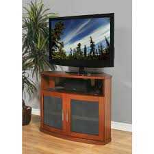 newport 40 walnut tv stand with glass doors