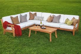 wood outdoor sectional. Modern Outdoor Teak Sofa With PC Sectional Set Teakwood Wood Garden Indoor Patio