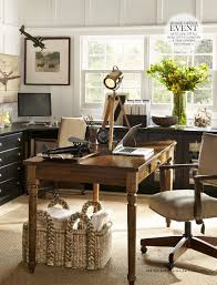 home office pottery barn. Pottery Barn Home Office Farmhouse Table As Desk And Wall Storage Pieces  Under Windows In Family Room Pottery Barn