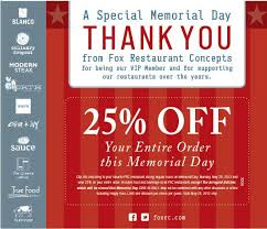 alicias deals in az love this % off your entire memorial day  if you re a fox restaurant concepts fan click order custom essay online to print off a coupon for 25% off your entire dine in purchase monday 28th