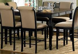com coaster cabrillo counter height two tone dining table black amaretto finish finish tables