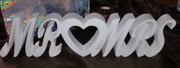 cursive styrofoam letters