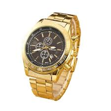 lucky brand mens watches promotion shop for promotional lucky new mens watches top brand luxury clock gold fashion men quartz watch wrist watch whole gold reloj mujer lucky shipping