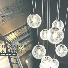 chandelier with glass hanging ball 5 light pendant simple throughout cer