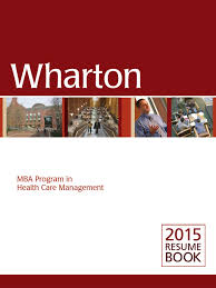Wharton 2015 Resume Book Wharton School Of The University Of