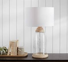 recycled glass lighting. Dorn Recycled Glass And Wood Table Lamp With Shade Lighting