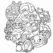 Marvellous Design Angry Birds Star Wars Coloring Pages Printable