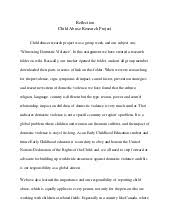 the child abuse short essay