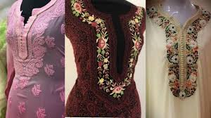 Latest Embroidery Designs Latest Embroidered Neck Designs For Womens 2019 Hand