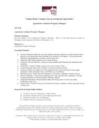 Resume Property Manager Resume Sample