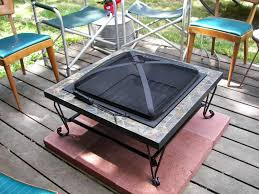 remarkable fire pit on wood deck lovely mat for pad