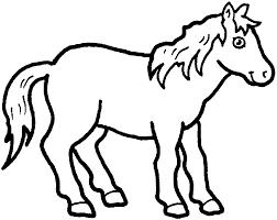 Kleurplaat Paard Schattige Dieren