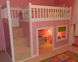 girls bed furniture. Little Girls Bedroom Furniture White Chevron Pattern Accent Wall Decor Dark Varnishes Oak Wood Nightstand Storage Bed
