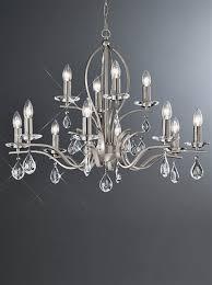 franklite fl2298 12 willow 12 light satin nickel and crystal chandelier