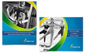 Sports Health Club Poster Template Design
