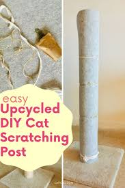 upcycled diy cat scratching post with